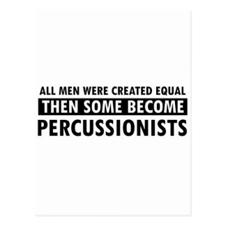 Igualmente creado diseño del percussionist tarjeta postal