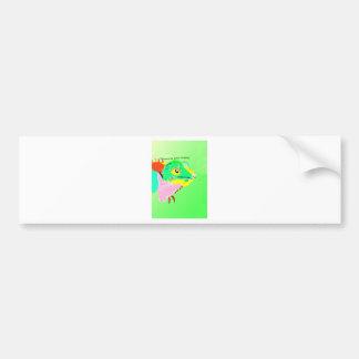 Iguana colorida etiqueta de parachoque
