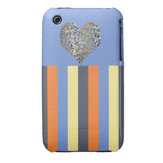 Ihone 3G/3Gs, Barely There del corazón de Mirador iPhone 3 Cárcasa