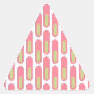 Ikat Diamond59 Pegatina Triangular