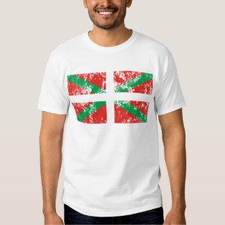 Ikurriña desgastada camisetas