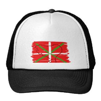 Ikurriña pintado con el esquema del país vasco, gorras de camionero