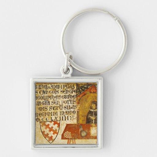 Ildebrandino cardinal Paglieresi en su escritorio Llavero