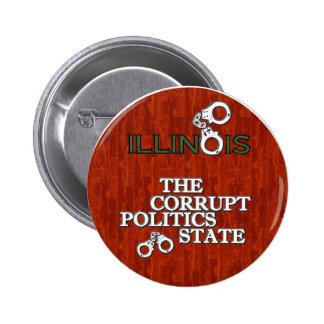 ILLINOIS: El estado corrupto de la política Chapa Redonda 5 Cm