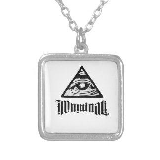 Illuminati Collar Plateado