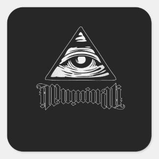 Illuminati Pegatina Cuadrada