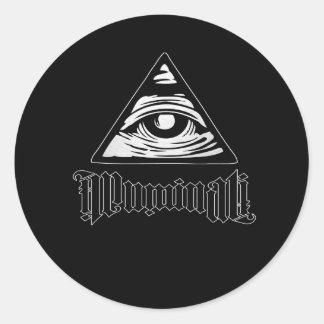 Illuminati Pegatina Redonda