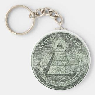 Illuminati - todo el ojo que ve llavero redondo tipo chapa