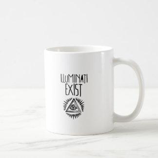 illuminati tshirt taza básica blanca
