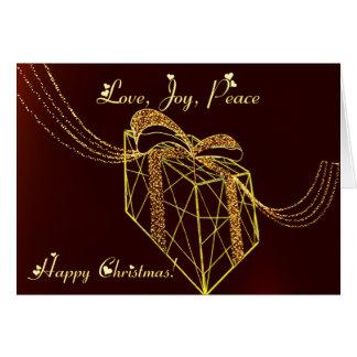 Iluminación de la caja de regalo tarjeta de felicitación
