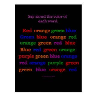 Ilusión de la palabra del color postal