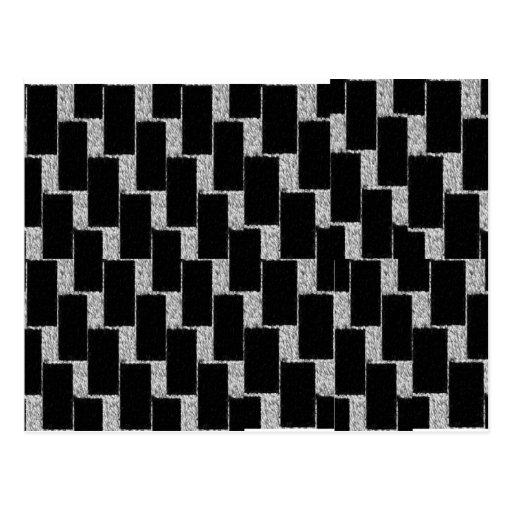 Ilusión de plata y negra postales