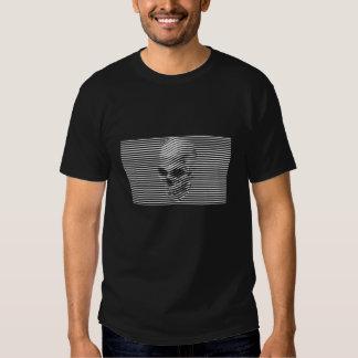 ilusión del gráfico del cráneo 3D Camisetas