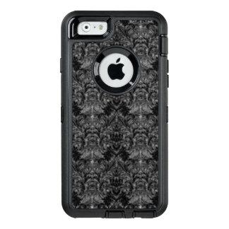 Ilusión negra del damasco de la falta de funda OtterBox defender para iPhone 6