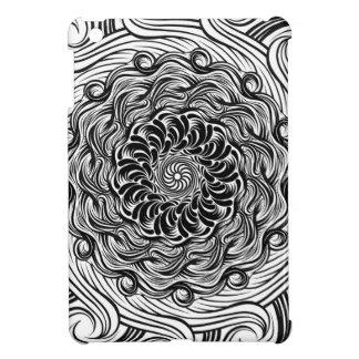 Ilusión óptica del Doodle adornado del zen blanco