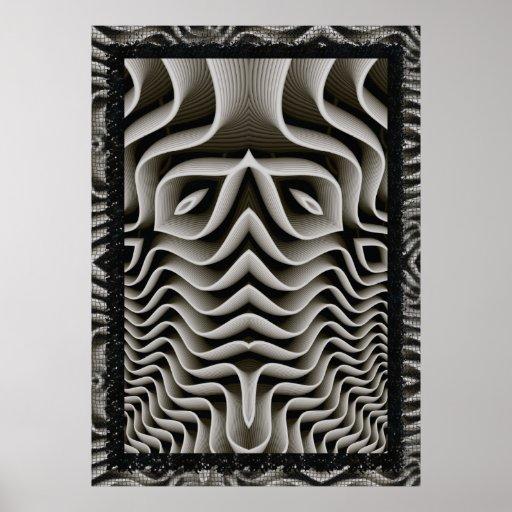 Ilusión óptica del exoesqueleto 3D Poster