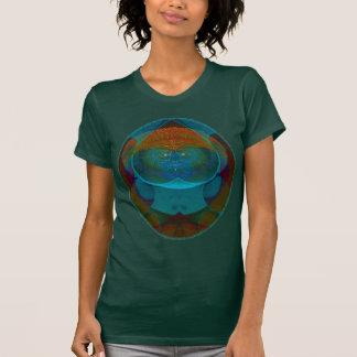 Ilusión óptica del remiendo camiseta