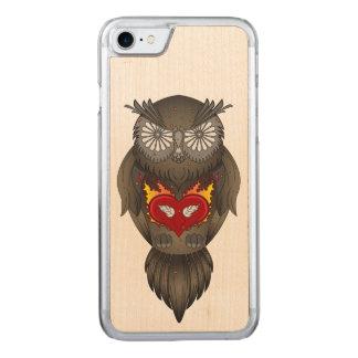 Ilustracion colorido del búho funda para iPhone 8/7 de carved
