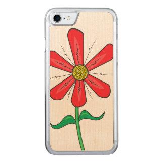 Ilustracion de la flor del verano funda para iPhone 8/7 de carved