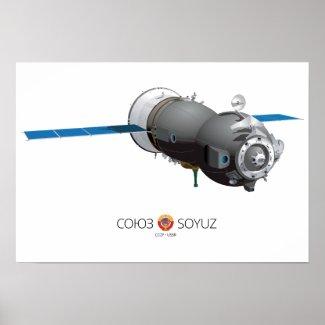 Ilustración de la nave Soyuz