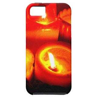 Ilustración de la vela de la acción de gracias y d iPhone 5 protectores