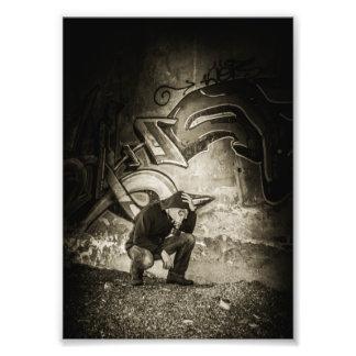 Ilustración enmascarada del artista de la pintada impresiones fotográficas