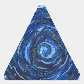ilustraciones #2 del añil de Chakra del ojo Pegatina Triangular