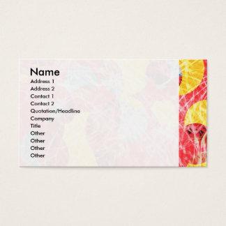 Ilustraciones abstractas coloridas tarjeta de negocios