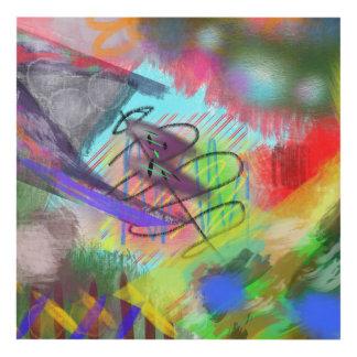 ilustraciones abstractas cuadro