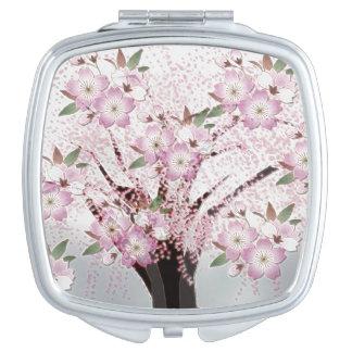 Ilustraciones blancas de Origami de los flores Espejos De Maquillaje