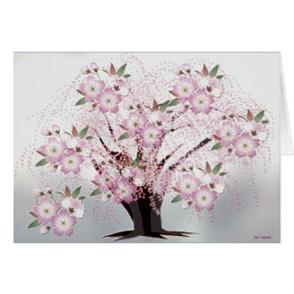 Ilustraciones blancas de Origami de los flores Tarjeta Pequeña