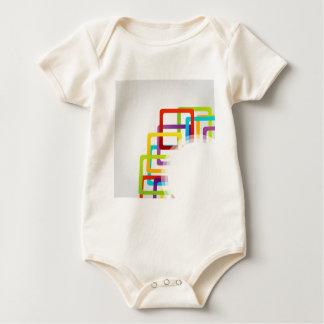 Ilustraciones con las cajas coloridas trajes de bebé
