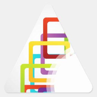 Ilustraciones con las cajas coloridas pegatina triangular
