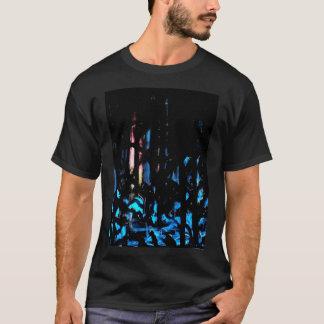 Ilustraciones cristianas de la cruz abstracta camiseta