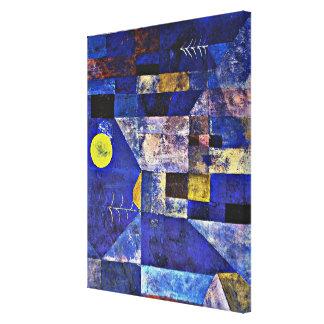Ilustraciones de Paul Klee, claro de luna Lienzo