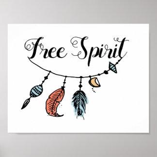Ilustraciones del espíritu libre póster