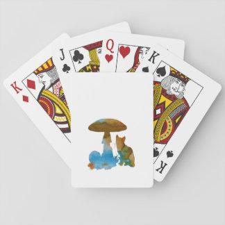 Ilustraciones del gato barajas de cartas