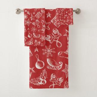 Ilustraciones del navidad rojo y blanco