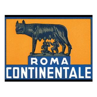 Ilustraciones del poster del viaje de Roma Postal
