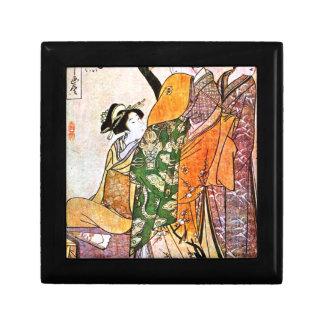 Ilustraciones japonesas del geisha del vintage joyero