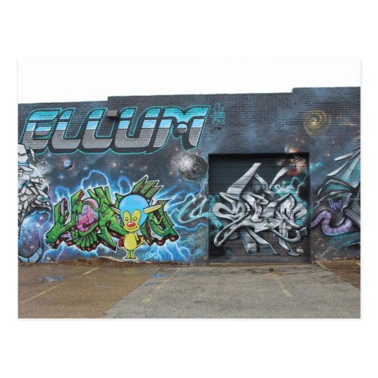 Ilustraciones profundas de la pintada de Ellum # 3 Postal