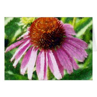 ilustraciones púrpuras del coneflower tarjeta