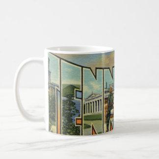 Ilustraciones retras coloridas de Tennessee Taza De Café