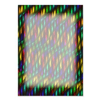 Ilustraciones rojas del extracto del mosaico del invitación 12,7 x 17,8 cm