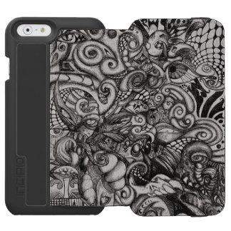Ilustraciones tribales del extracto del demonio funda cartera para iPhone 6 watson