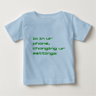 im en teléfono del ur, settingz cambiante del ur camiseta