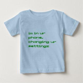 im en teléfono del ur, settingz cambiante del ur camiseta de bebé
