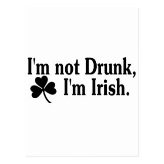 Im Im irlandés no borracho 3 Postal