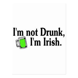 Im Im irlandés no borracho 4 Tarjetas Postales