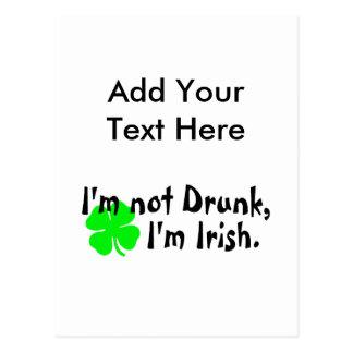 Im Im trébol no borracho de la hoja del irlandés 4 Postales